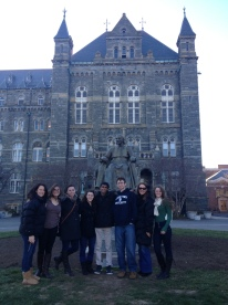 Taking a tour of Georgetown University with Chaminade alumnus Matt DeSilva '12.