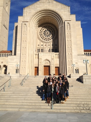 Chaminade students attend Mass at the Basilica of the National Shrine of the Immaculate Conception. Located in Washington, D.C., it is the largest Roman Catholic church in the United States, and one of the ten largest churches in the world.