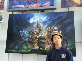 Henry Zhou (class of 2017) in Riot Games Lobby