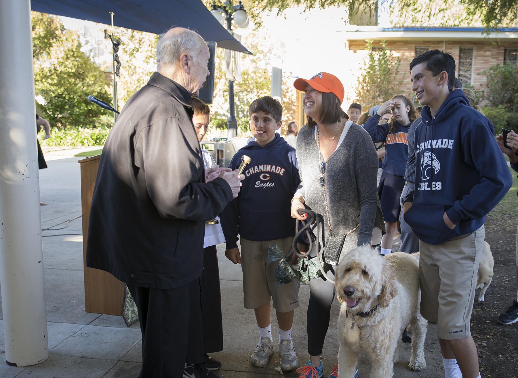 Chaminade Holds Blessing of the Animals   CHAMINADE NEWS