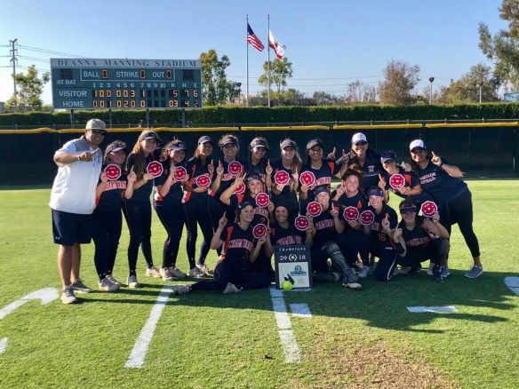 Softball CIF-SS D5 final 2018 06-01