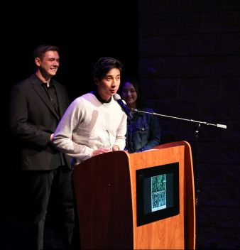 "Cameron Han, winner for Best Comedy and the Audience Selection for ""Quest"""
